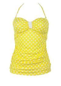 Yellow Polka Dot Tankini!