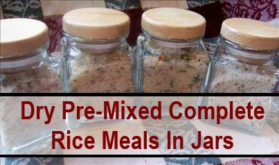A few days ago we did a post aboutDry Pre-Measured Complete Meals In Jarsby Jennifer from Rainy Day Food Storage. This was so popular, I am back with some more recipes for pre-measureddry meals in jars and today it is pre-mixed dry rice mixes. As…