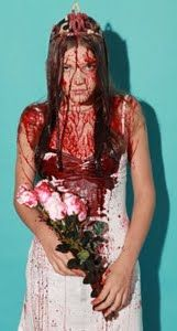 Pretty gruesome, but there's a risk of the fake blood staining your skin...