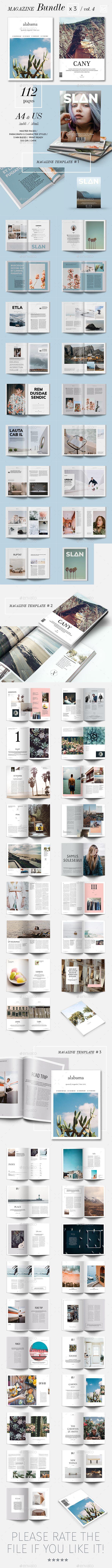 Magazine Template InDesign INDD Bundle