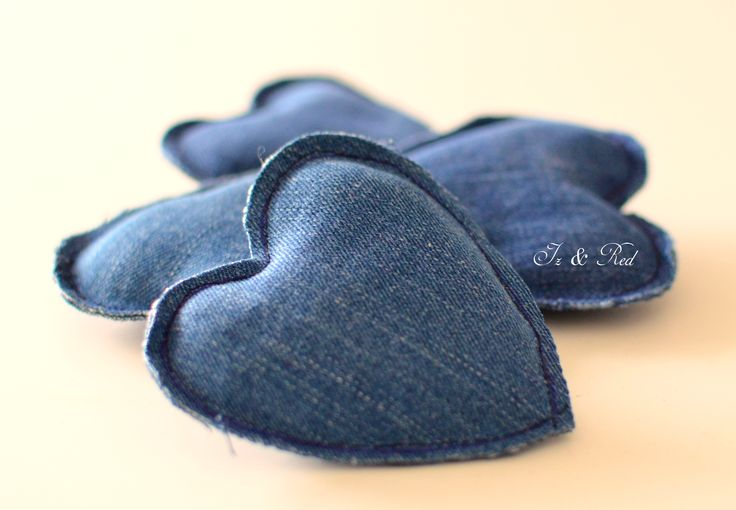 hearts of material - sew