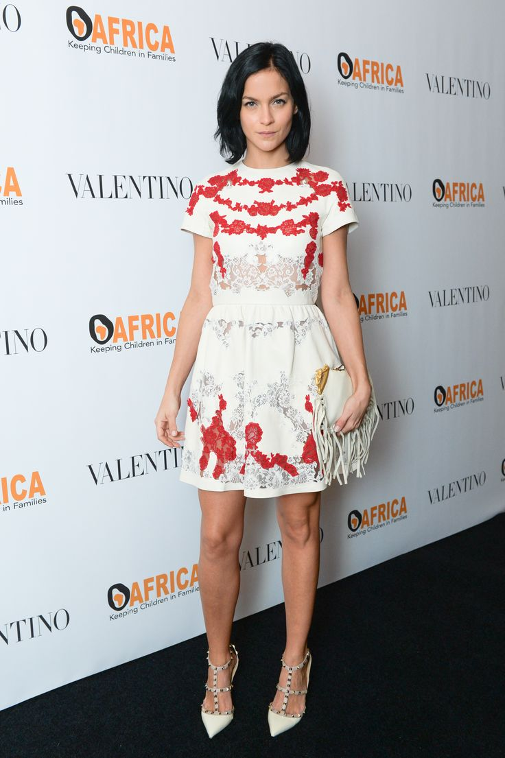 Leigh Lezark is wearing a Valentino dress from the Spring 2015 collection to the Africa Charity Gala: Empowering Young Futures in New York, the 21st of October, 2014