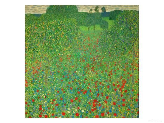 A Field of Poppies, 1907 Giclee Print by Gustav Klimt at AllPosters.com