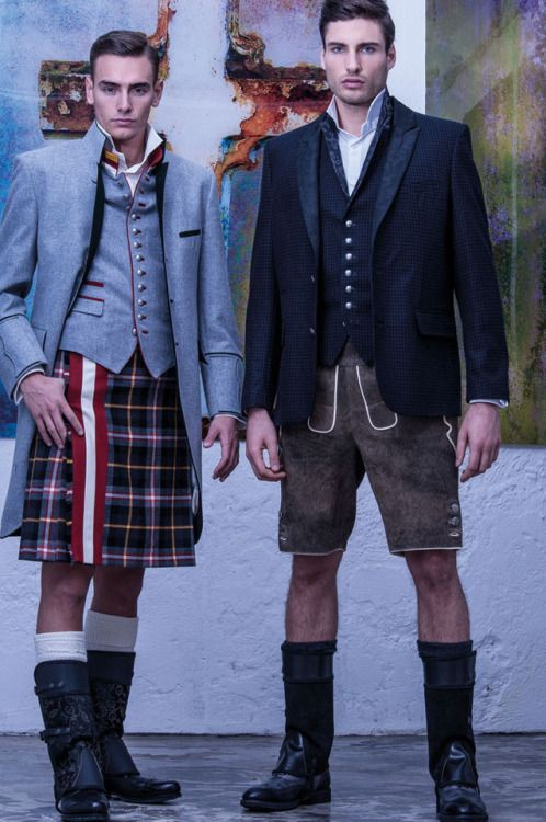 Austrian kilt and Lederhose.