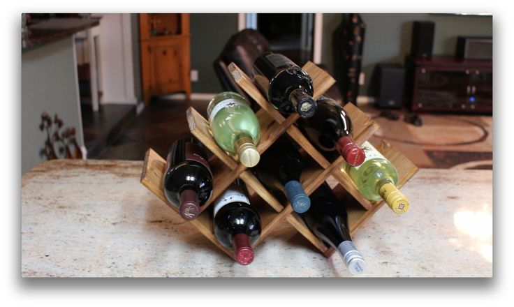 DIY Countertop Wine Rack | Wilker Do's