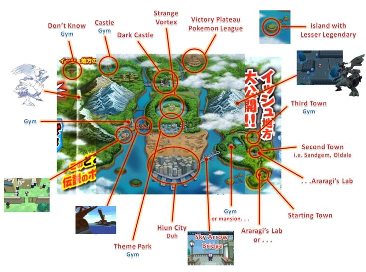 pokemon Unova region map | Pokemon Black And White Map ...