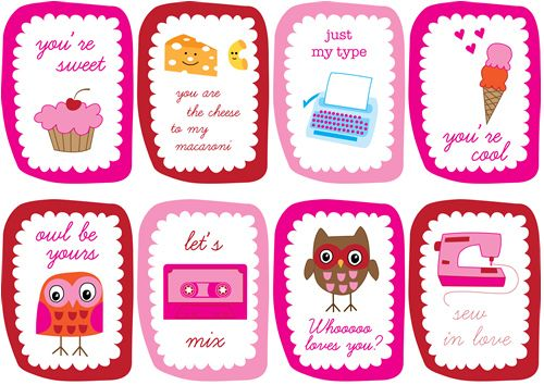 valentines day cards to print