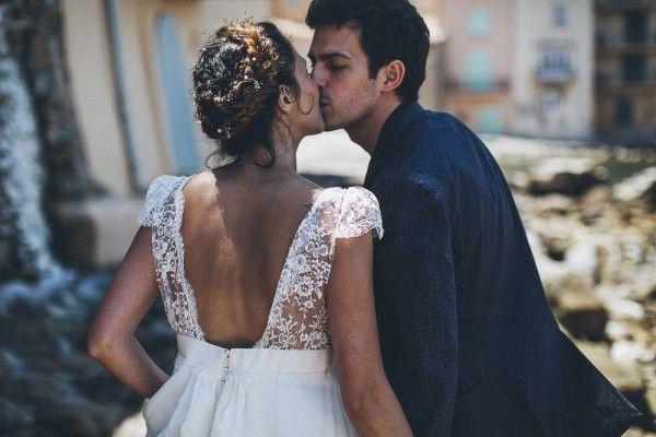 Un beau jour : wedding dress - Laure de Sagazan - back