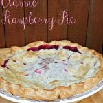 If you're in need of an easy and delicious classic raspberry pie recipe then you've come to the right place! #raininghotcoupons #raspberrypie