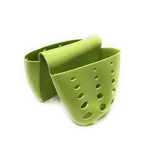 Generic Kitchen Sink Saddle Sponge Holder and Sponge Caddy with Drainage Holes Set of 2 Green