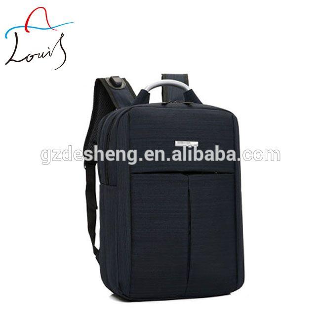 OEM logo waterproof breathable multifunctional 15.6 nylon laptop backpack usb charging college school bag