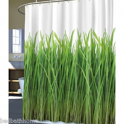 NEW Splash Home Green Grass PEVA Vinyl Shower Curtain 19682