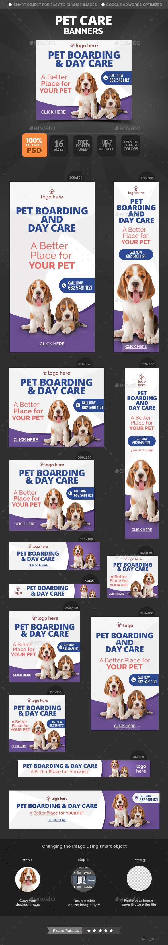 Pet Care Banners on Behance