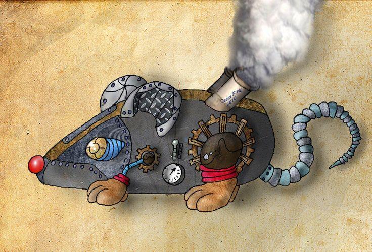 Steam punk rat by JollySpaceFox