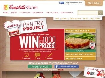 "Campbell Soup Company ""Address Your Heart Pantry Project"" Sweepstakes"