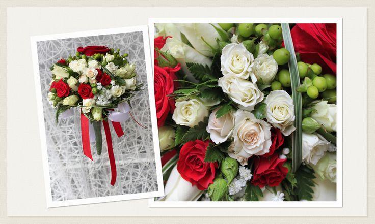 Matrimonio a San Valentino - Bouquet Sposa - Addobbi Rose Rosse - La Floreale Roma www.laflorealedistefania.it
