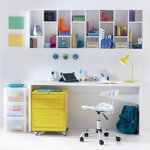 20+ melhores ideias sobre Guarda Roupa Com Escrivaninha no  ~ Adesivos De Parede Para Quarto Tok Stok