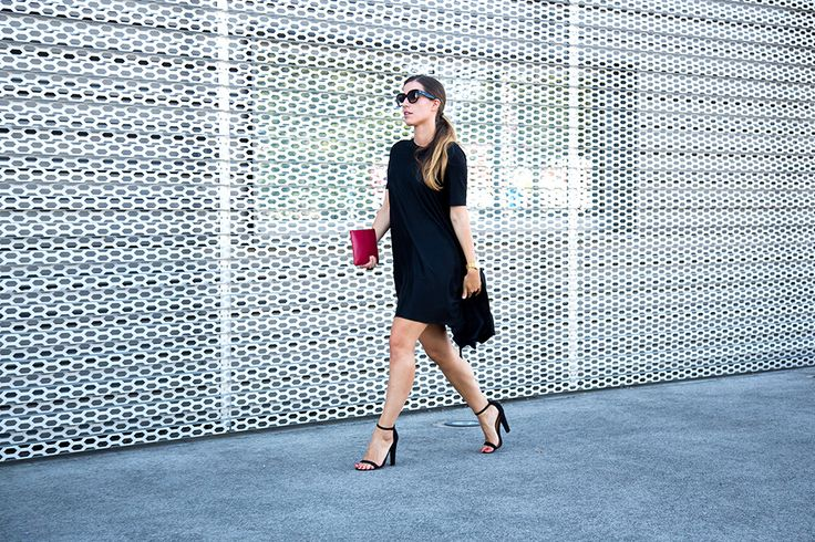 Dress: COS | Heels: ASOS | Watch: Larsson & Jennings | Sunnies: Céline | Clutch: Comme Des Garçons.