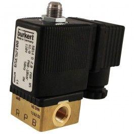 """Solenoides Burkert para usar como electroválvula de 3 o 2 vías. Fabricación alemana en latón que les proporciona fiabilidad y alta durabilidad."""""""
