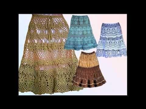 ВЯЗАНИЕ ЮБКИ. Часть 3. Вязание пояса и кокетки юбки крючком.How to tie skirt. - YouTube