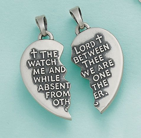 """Watch Over Thee"" Prayer Pendant #JamesAvery"