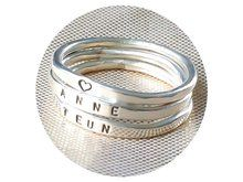 Sterling zilveren ring met eigen tekst, gepersonaliseerde ring, sterling zilver, kado vriendin, kado verjaardag, kado man, stapelring, tekstring, ring met tekst