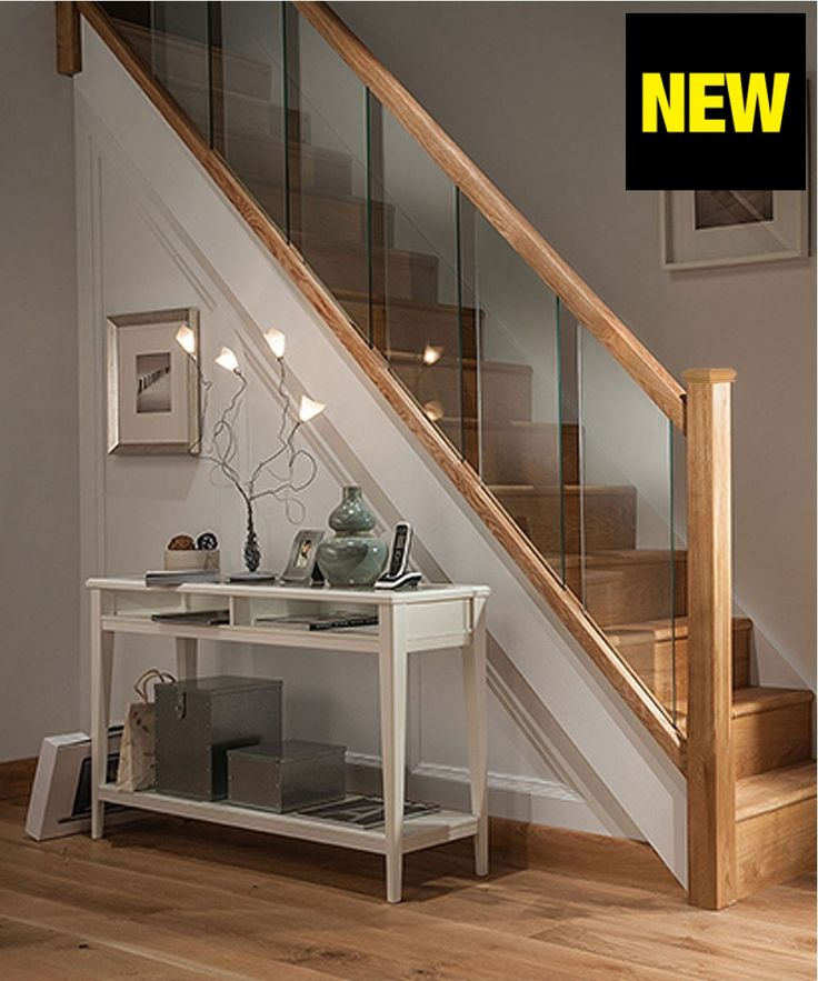 Axxys Reflections Oak and Glass 12 Step Staircase and Landing Balustrade Kit