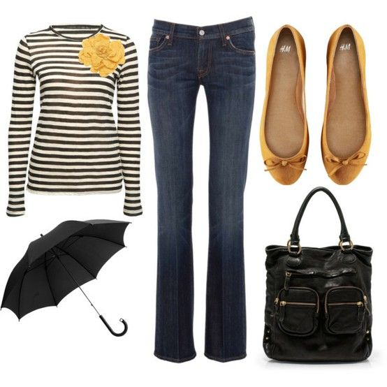 Love black and white stripes with a punch of color.