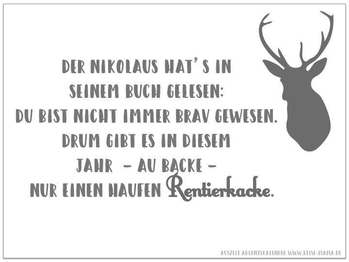 Nikolaus Spruch Diy Geschenk Adventkalender Adventskalender Fur Mama Nikolaus Spruch