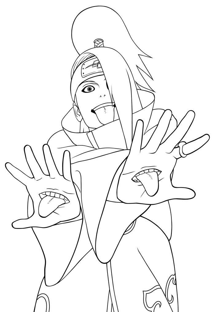 imagens do deidara | Naruto Coloring Pages | Coloring Pages To Print