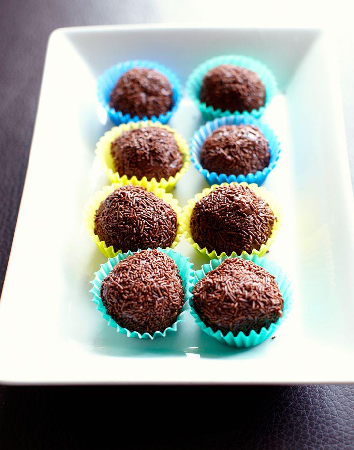 Brazilian chocolate caramels Brigadeiros