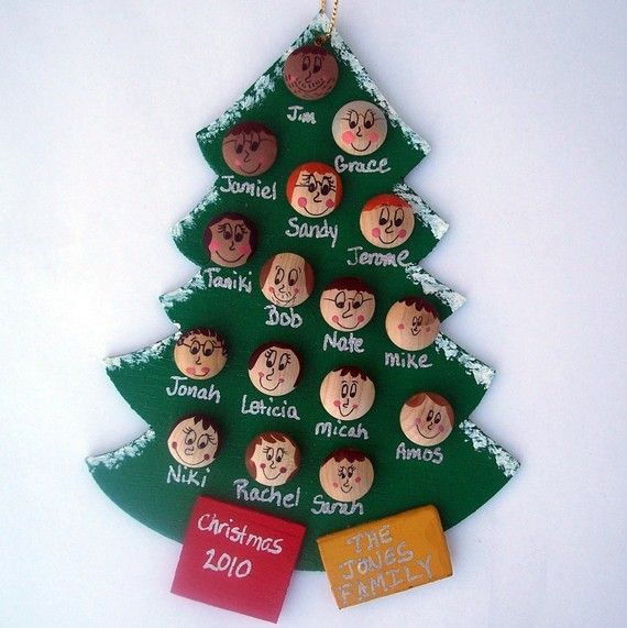Family Christmas Ornament Up to 12 faces