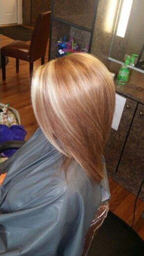 Strawberry blonde with highlights!
