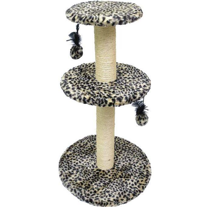 ###Descrição do Produto###    O Arranhador para Gatos 3 Plataforma Estampada, de madeira é de excelente qualidade e encapado com pelúcia, sisal e um elástico com uma bolinha para uma melhor distração e divertimento do seu pet.    ###Dicas Pets na Moda###    Ideal para distrair, interagir, brincar...