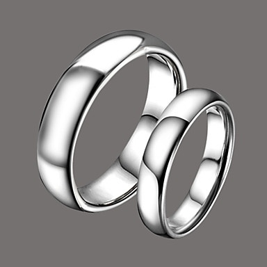 Gorgeous Silver Wolfram Steel Couples Rings