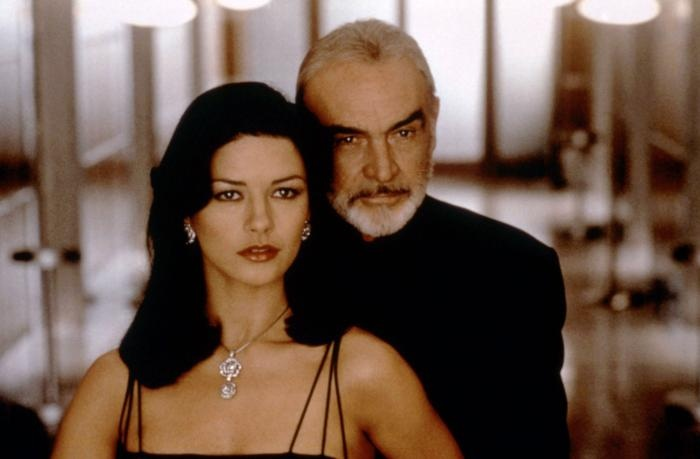 Entrapment (1999) - great film! Just watched this via Netflix. Starring Sean Connery and Catherine Zeta-Jones.