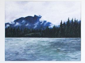 """Limited Edition Digital Fine Art Print, 11 X 14, """"Kootenay Mountains"""" Signed and Numbered by Jen Unger. by JenUngerFineArts on Etsy"""