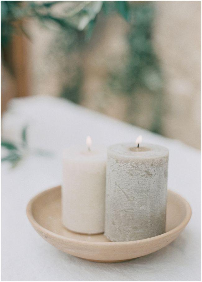 organic wedding candles brushfire photography