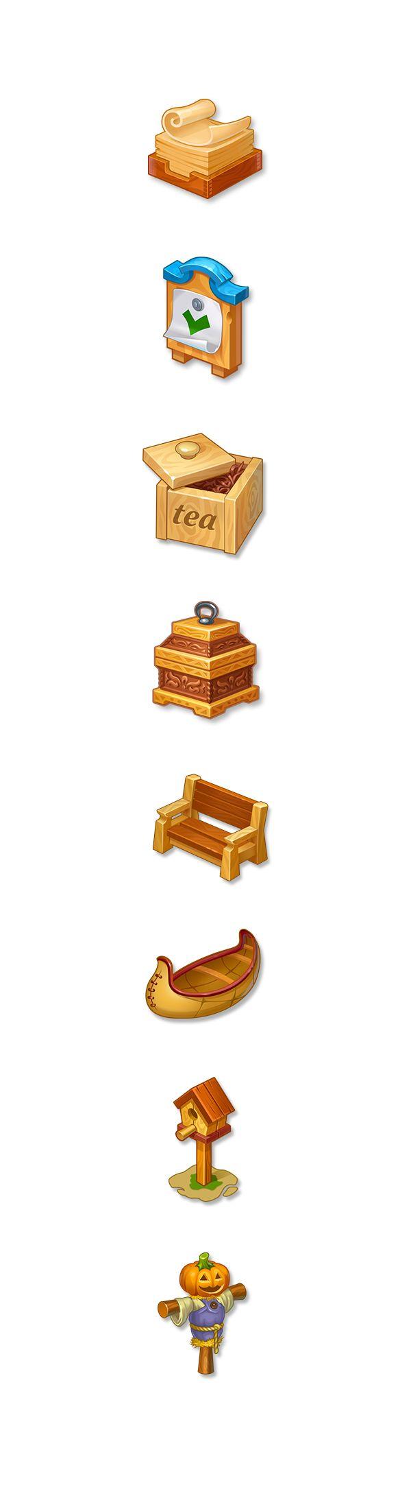 Иконки выполнены в компании Social Quantum для игры Дикий запад в 2014-2015 г.