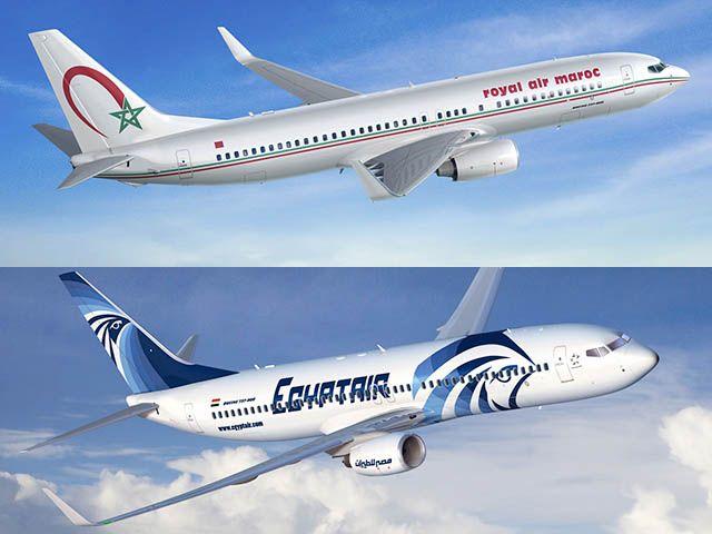 Royal Air Maroc et Egyptair partagent leurs codes