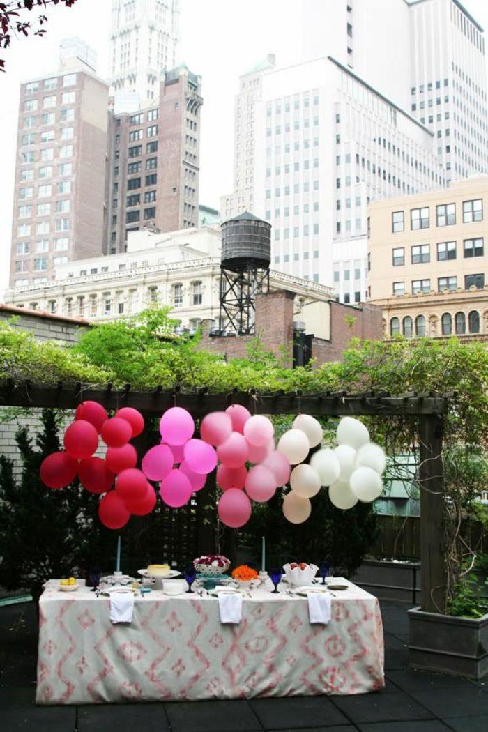 tischdeko gartenparty dekoideen ballons
