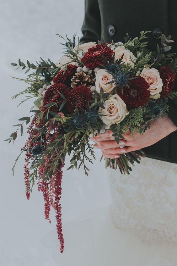 30 Winter Brautsträuße, die Sie Lieben werden