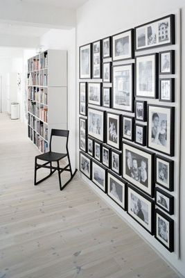 Thinking about this gallery wall idea for the family room with pictures from my travels around the world and people that mean the most to me...