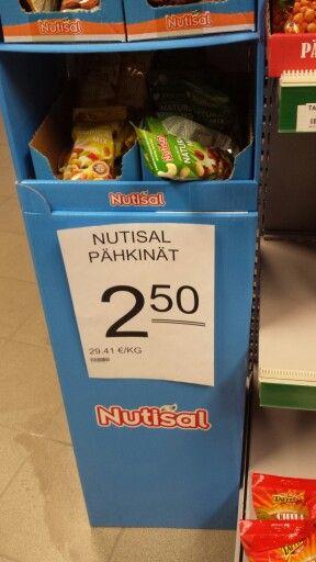 Tarmon pähkinä hintalappu