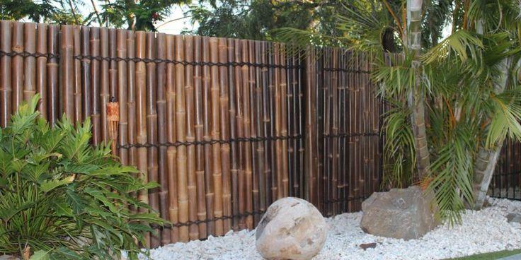 Bamboo panels   Black bamboo panel from Bamboo Land Nursery (QLD Australia)