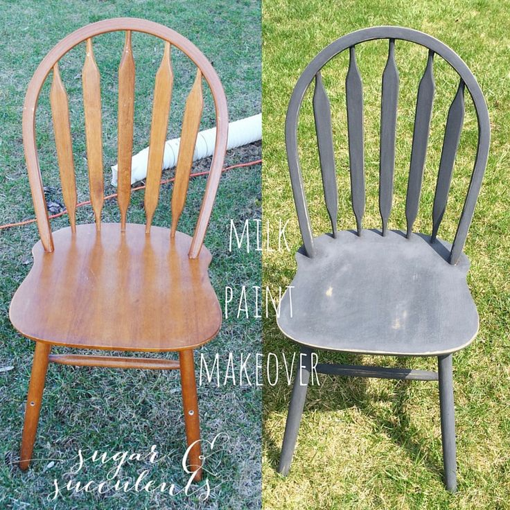 My first milk-paint project y'all and I am THRILLED with the results. Checkout how I turned these traditional honey-oak chairs into farmhouse vintage beauties.