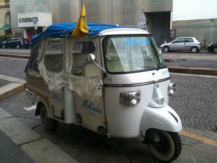 Three-wheeled Hotel Taxi in Milano