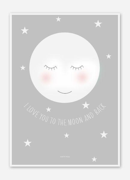 Mond Bild / Poster für das Kinderzimmer DIN A4 von PETIT POIS auf DaWanda.com