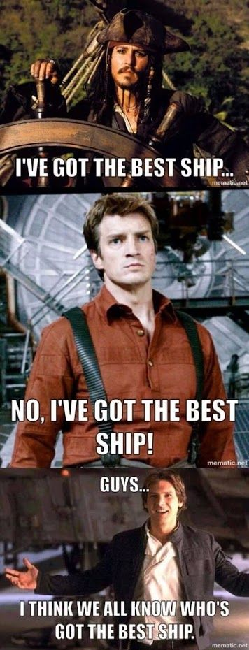 Well, DUH!   Oooooh! Do I really have to say it?! Captain Mal, of course! *sigh* Seriously... Some people! ;) LOL