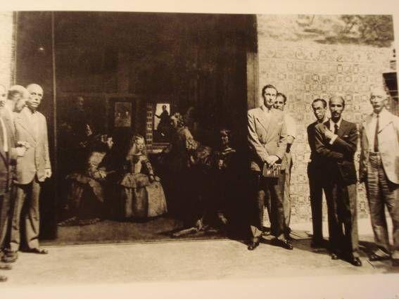 Las Meninas en Valencia custodiada por la Sociedad de Naciones. Guerra Civil.